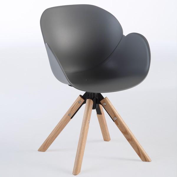 Niehoff Sushi Stuhl grau mit Stativfuß