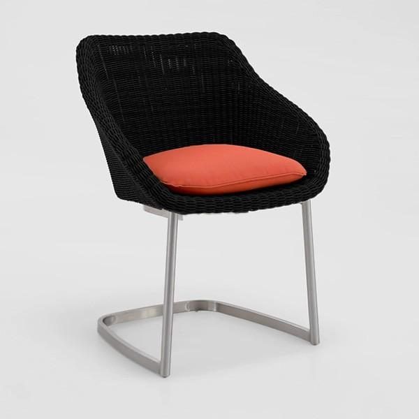 Niehoff Nizza Schwinger, Geflecht black (Das Sitzkissen ist nicht im Lieferumfang enthalten.)